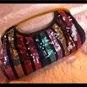 Sequin Multicolor Clutch Purse Bag Express Design